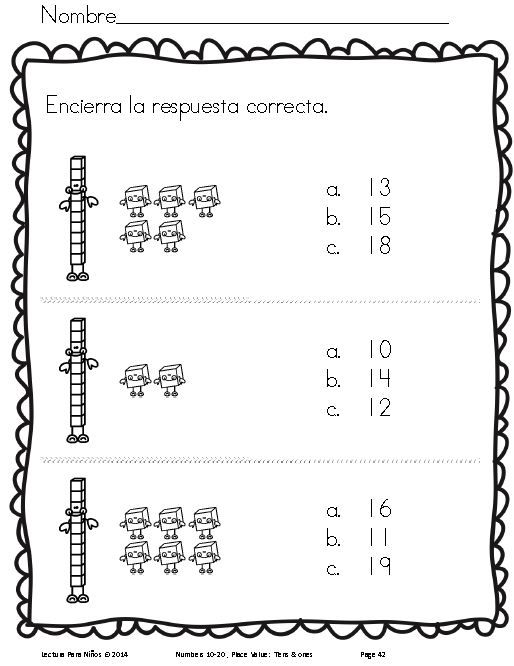 Tens & ones: Decenas y unidades! Preparing students for