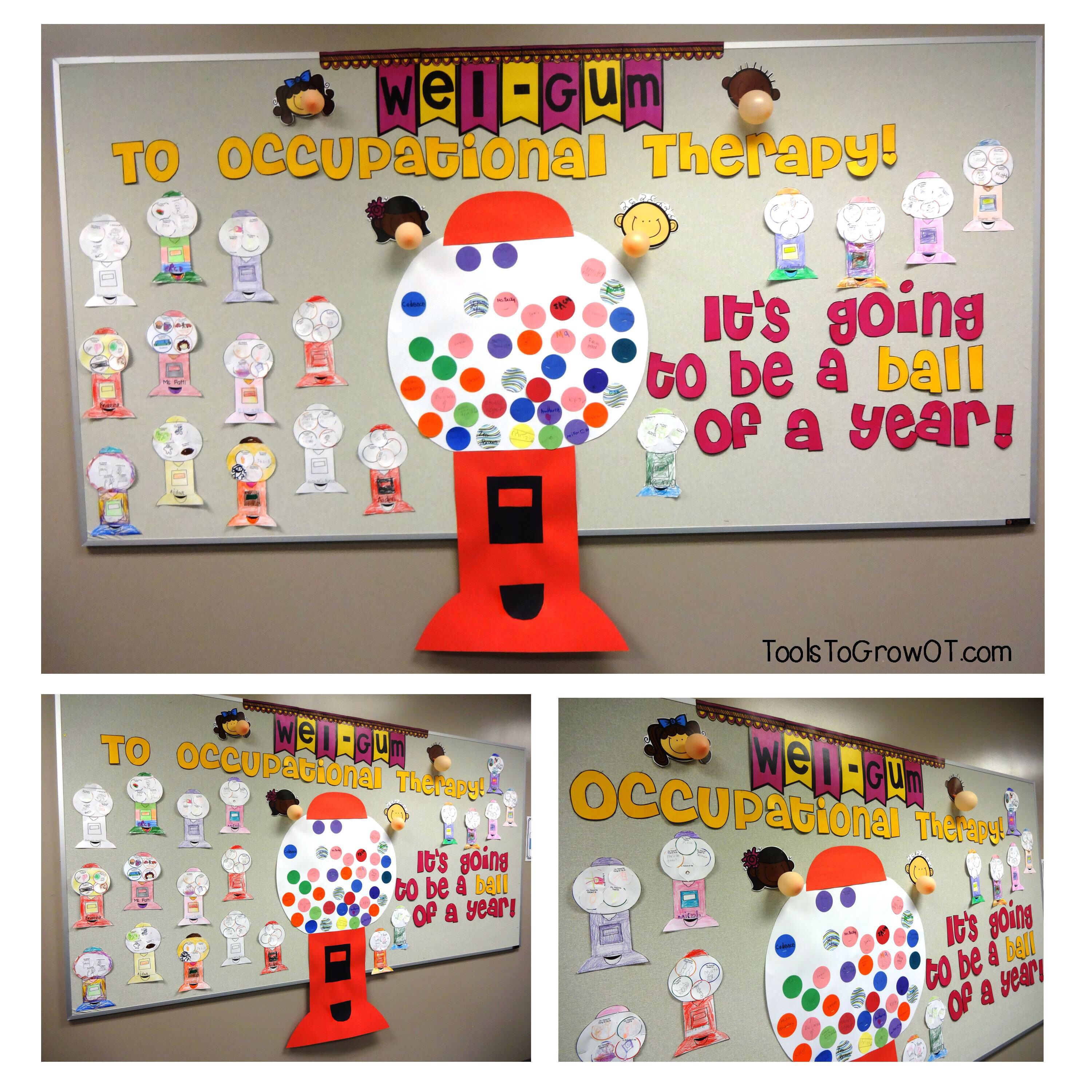 Back To School Occupational Therapy Bulletin Board Wel Gum To Occupational Therapy It S Going