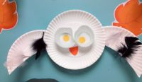 Paper plate snowy owl | Creations From Children First ...