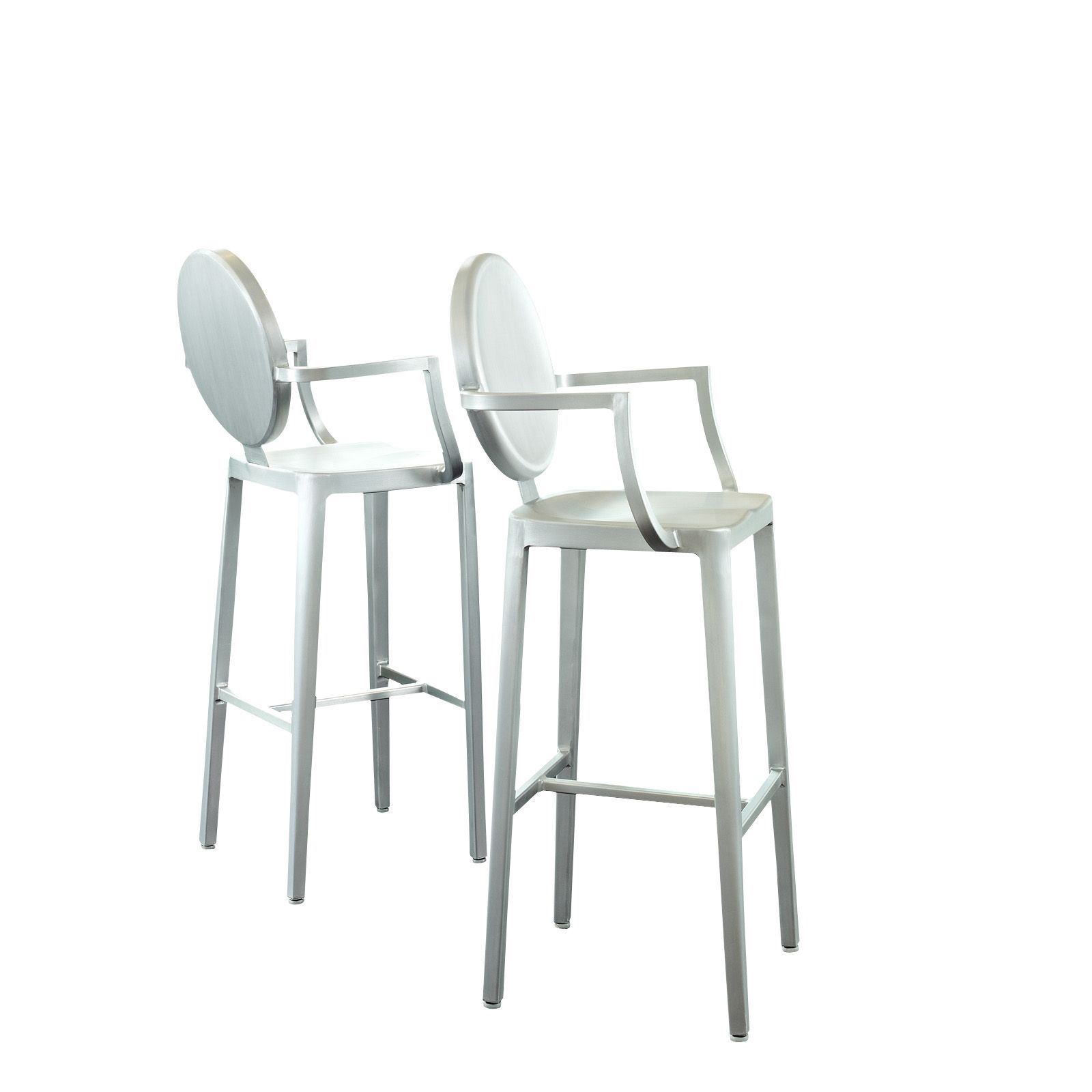 ghost chair bar stool music posture aluminum set in silver eei 890 by lexmod