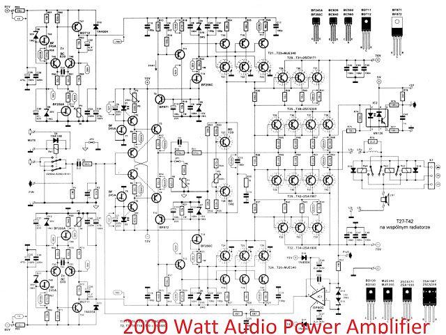 2000W high power amplifier circuit diagram final