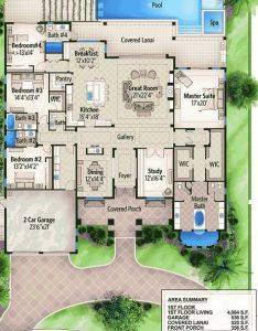 One story four bed beauty bs architectural designs house plans also plan design rh pinterest