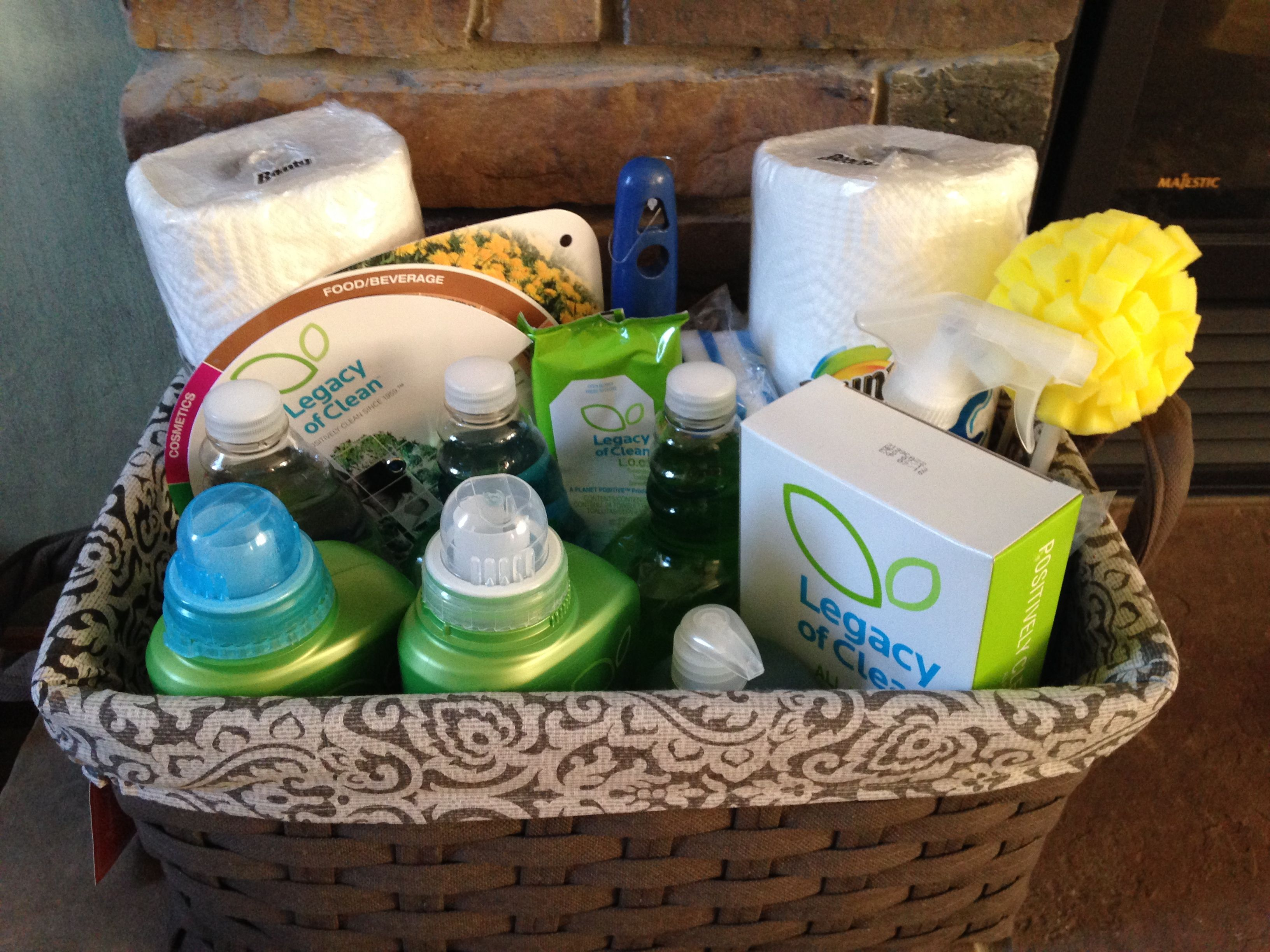 Housewarming Gift Basket All Green Cleaning Products Available