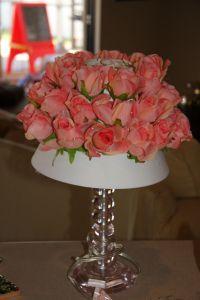 diy silk flower lamp shade redo - in progress | Janes Room ...