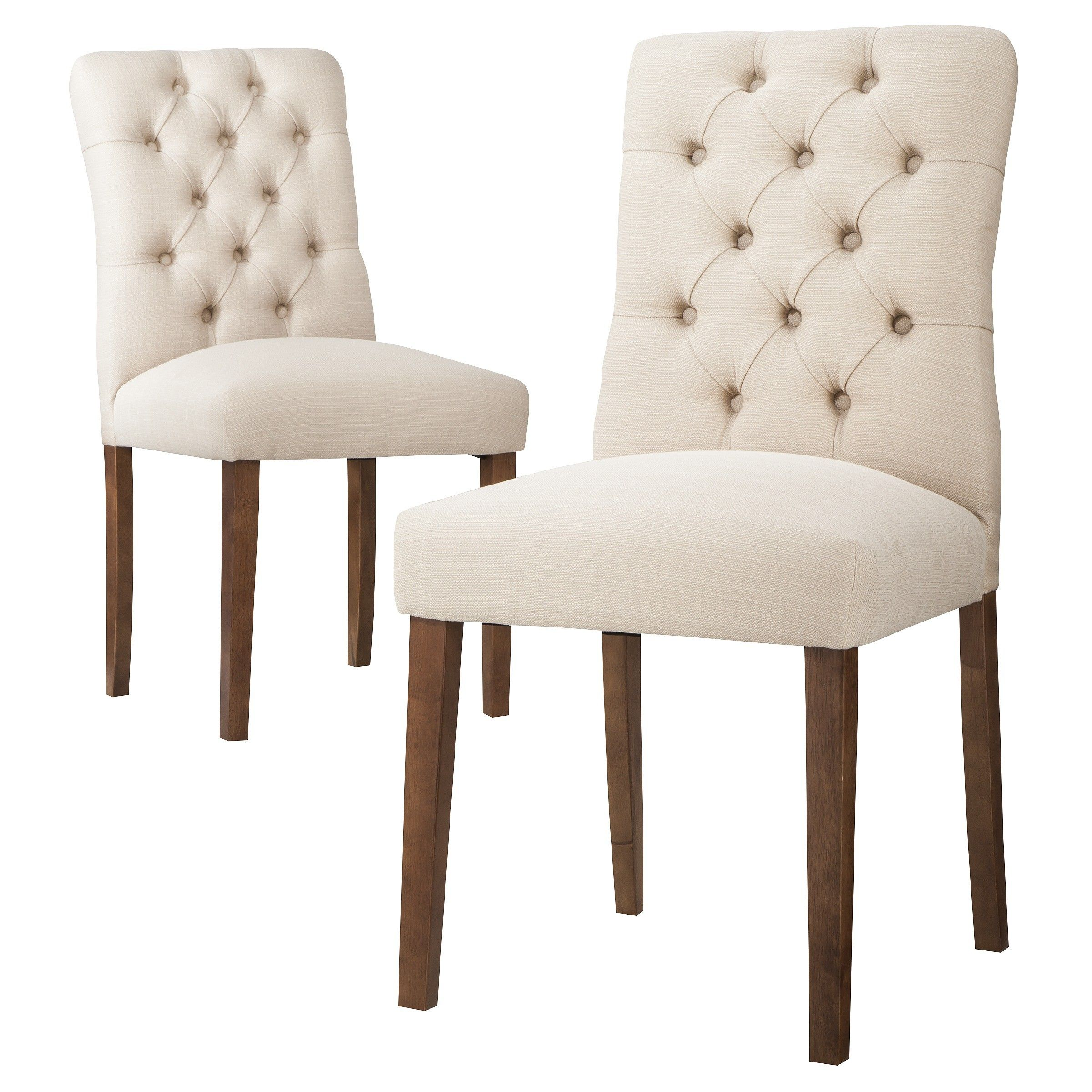dining chairs set of 4 target sheepskin chair covers canada 120 threshold brookline tufted 2