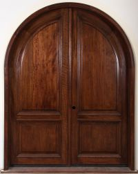 arched interior doors | Full Solid Wooden Arched French ...