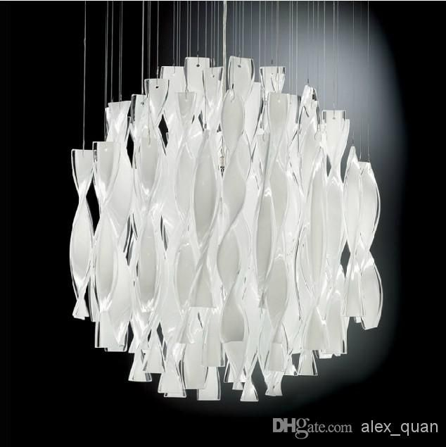 Hybrid Type Stair Large Chandelier Modern Glass Pendant Light Lamps Whole On