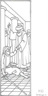 HC 11 Hand 3. Petrus en Johannes genezen een verlamde Een