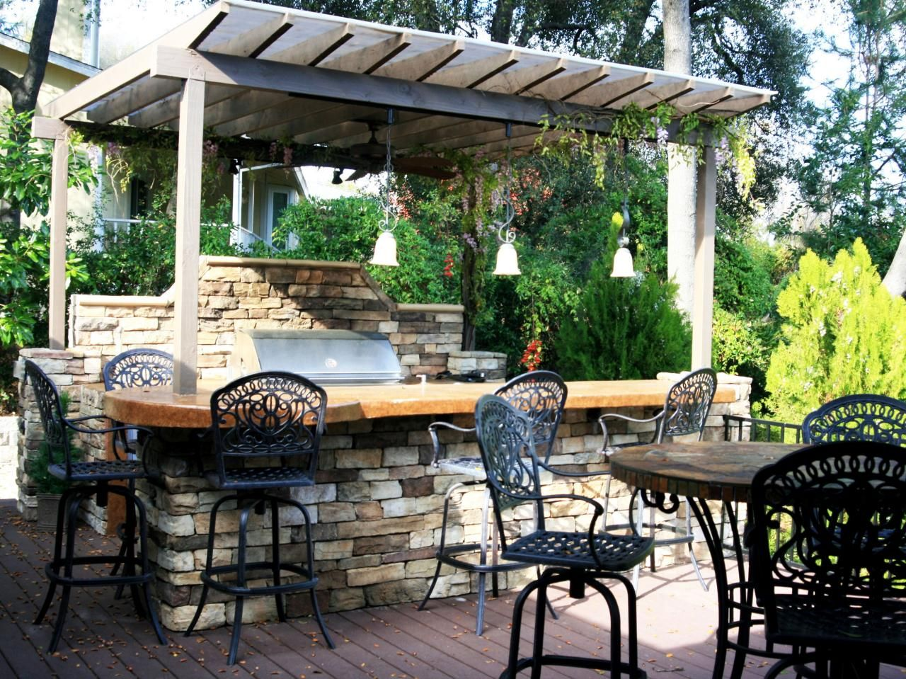 outdoor kitchen ideas on a budget tile backsplash pictures tips and
