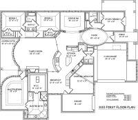 One Story Open Floor Plans