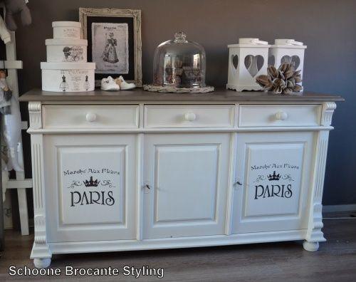 Landelijke dressoir  kast decoratie  Pinterest
