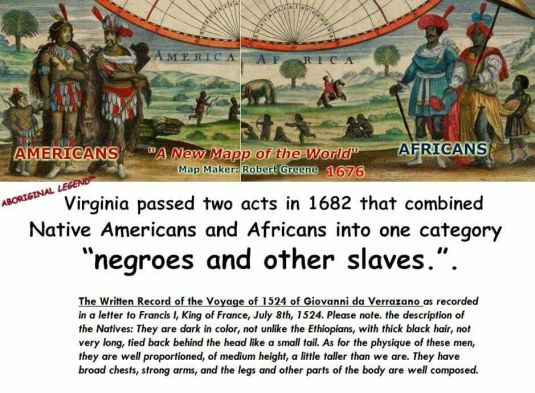 Image result for 1682 native americans and africans were combined into one category