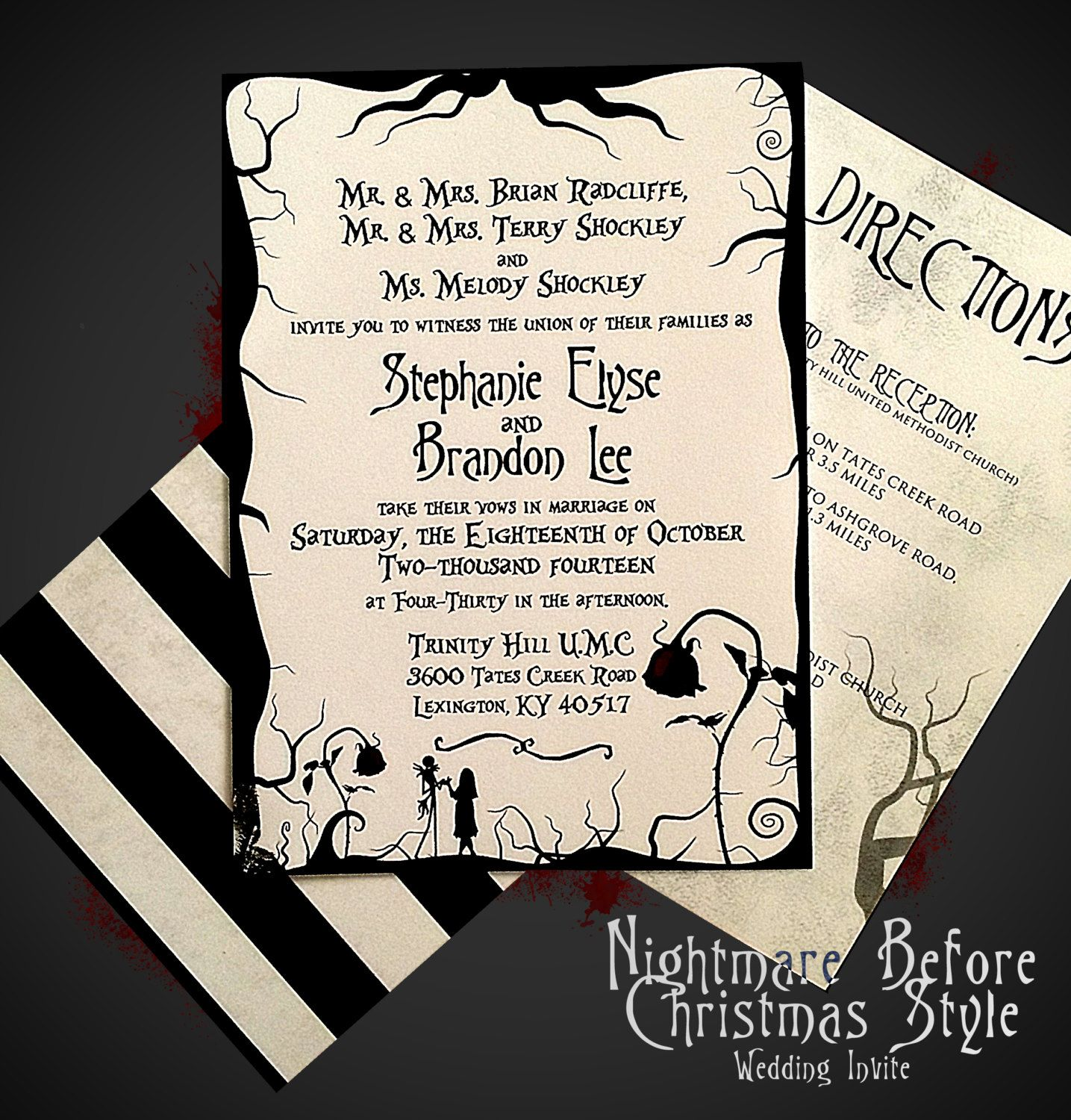 Nightmare Before Christmas Themed Wedding By