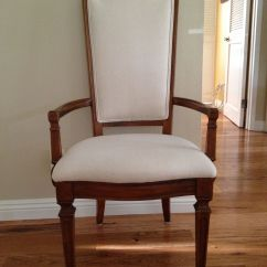 Dining Chair Seat Cover Material Action Track Thomasville Room That Had Torn Cane Back And