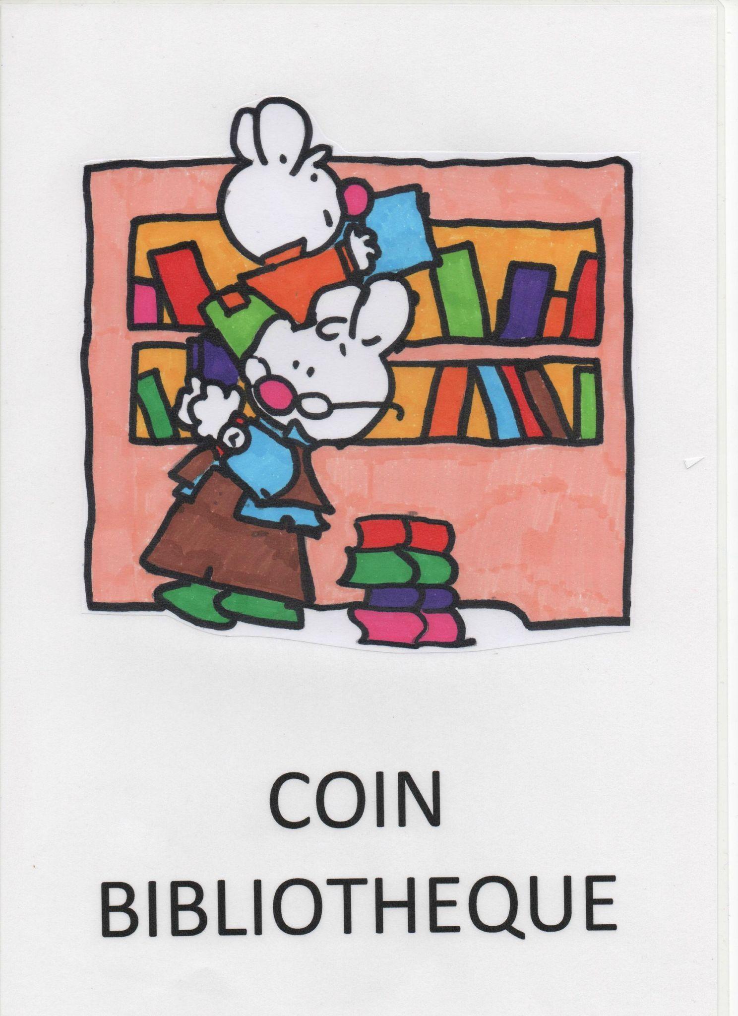 Coin Bibliotheque Affiche