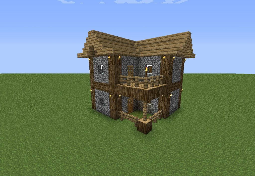 An Easy To Make Minecraft House Minecraft Pinterest House
