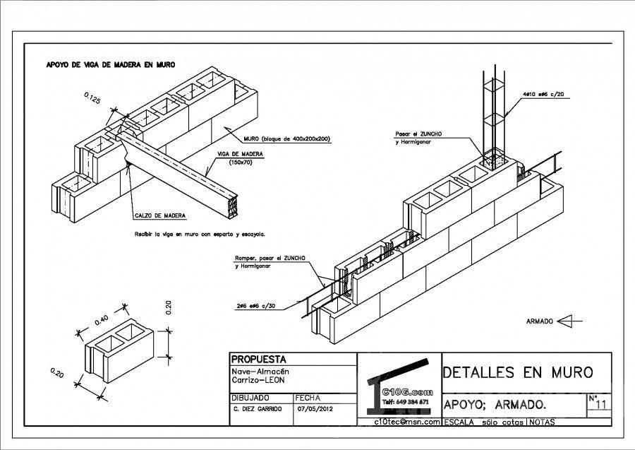 wiring brick walls