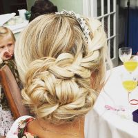 braided messy side bun wedding hair | Wedding Hair Styles ...