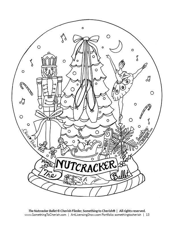 Free 92 Page Holiday Coloring Book Nussknacker