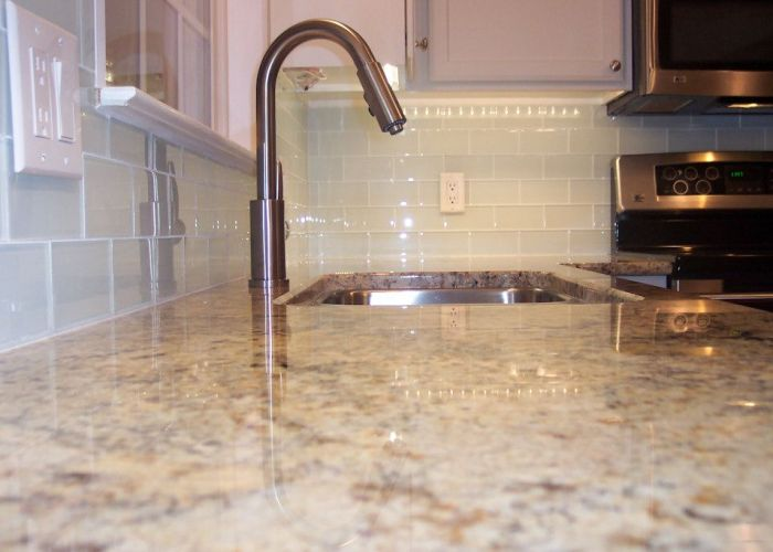 Glass tile backsplash designs amazing kitchen with also