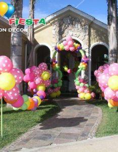 Balloon decor ideas for parties also wedding  baby showers st birthday kids  rh pinterest