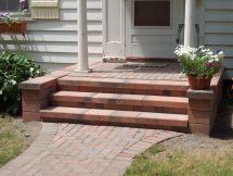 Nice Front Porch Step Design With Naturan Brick