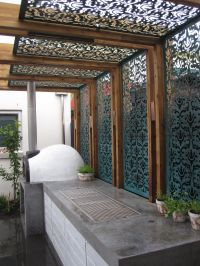 Shade screen in a pergola | Privacy Screens Brisbane ...