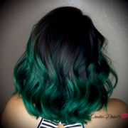emerald green ombr hair