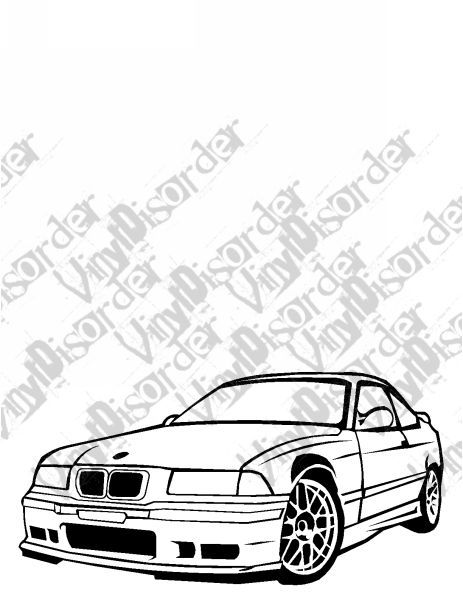 BMW E36 325 is M3 Outlaw Tuner Rice Rocket car Vinyl Decal