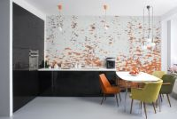 Decoration: Awesome Modern Kitchen With Mosaic Wall Murals