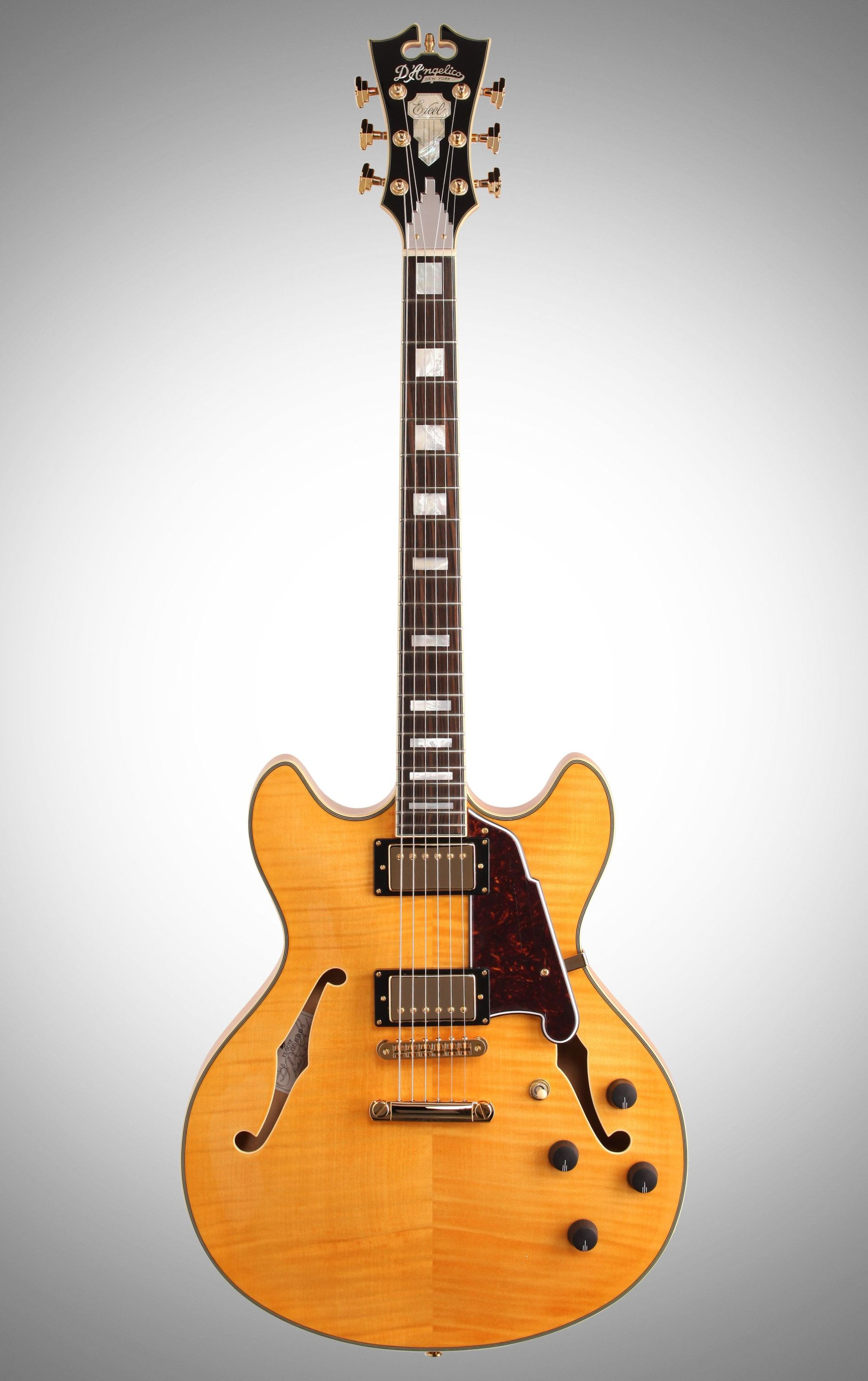 hight resolution of d angelico exdc semi hollowbody electric guitar with case on charvel wiring diagram wiring