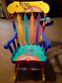 Dr.Seuss painted chair. | Dr. Seuss painted chairs and ...