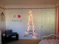Lit Eiffel Tower for my daughter's Paris themed room