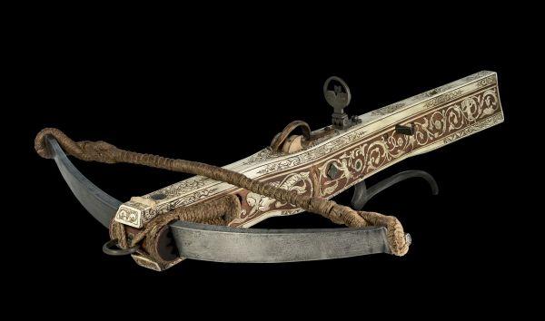 German Bone Inlaid Crossbow 16th Century Ancient Armour
