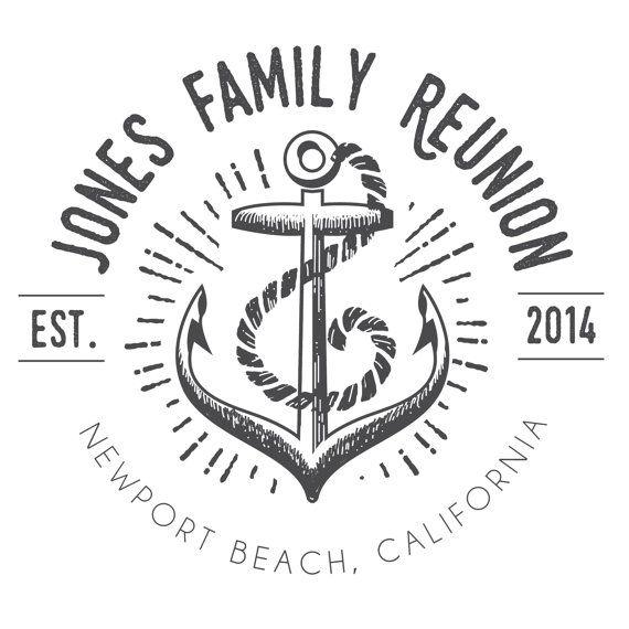 Anchor Family Reunion T-Shirt Logo DIGITAL FILE by