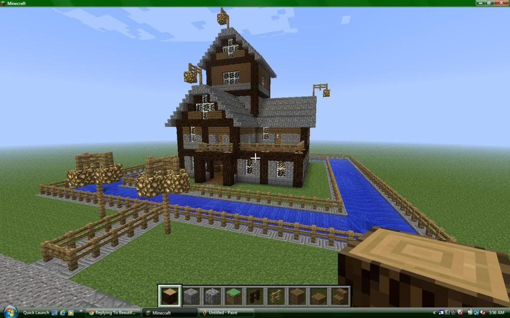 Cool Houses In Minecraft This Is Actually A House I Copied Off Of