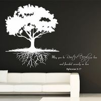 May You Be Rooted Deeply...Quote and Roots Tree Vinyl Wall