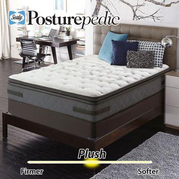 Sealy Posturepedic Aldercrest Plush Euro Pillowtop King Mattress Set