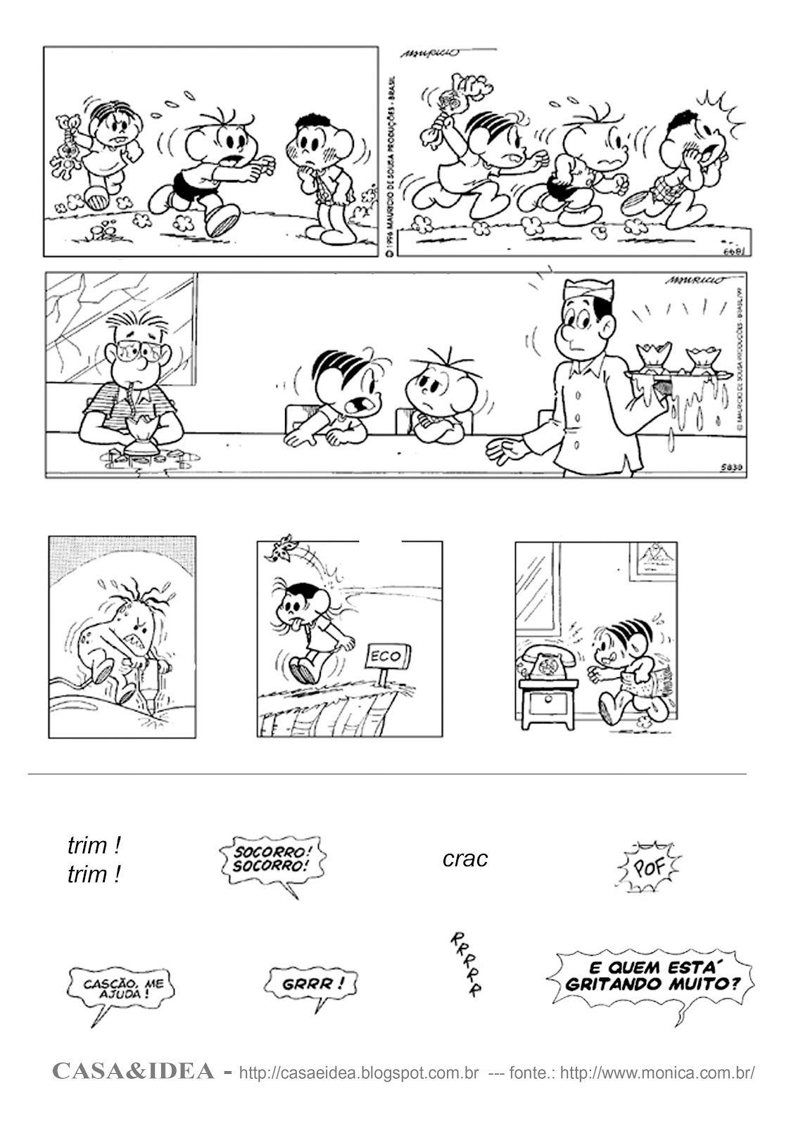 Casa Historia Em Quadrinhos Colagem Dos Dialogos
