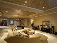 21 Stunning Modern Basement Designs | False ceiling ideas ...