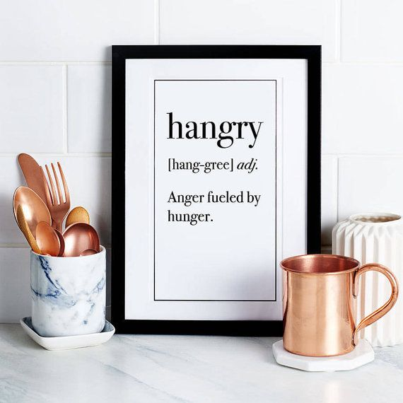 art for the kitchen small table sets hangry definition print unframed home decor