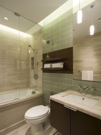 Picture Of Minimalist Wall Shelves Over Toilet Seat In Spa ...