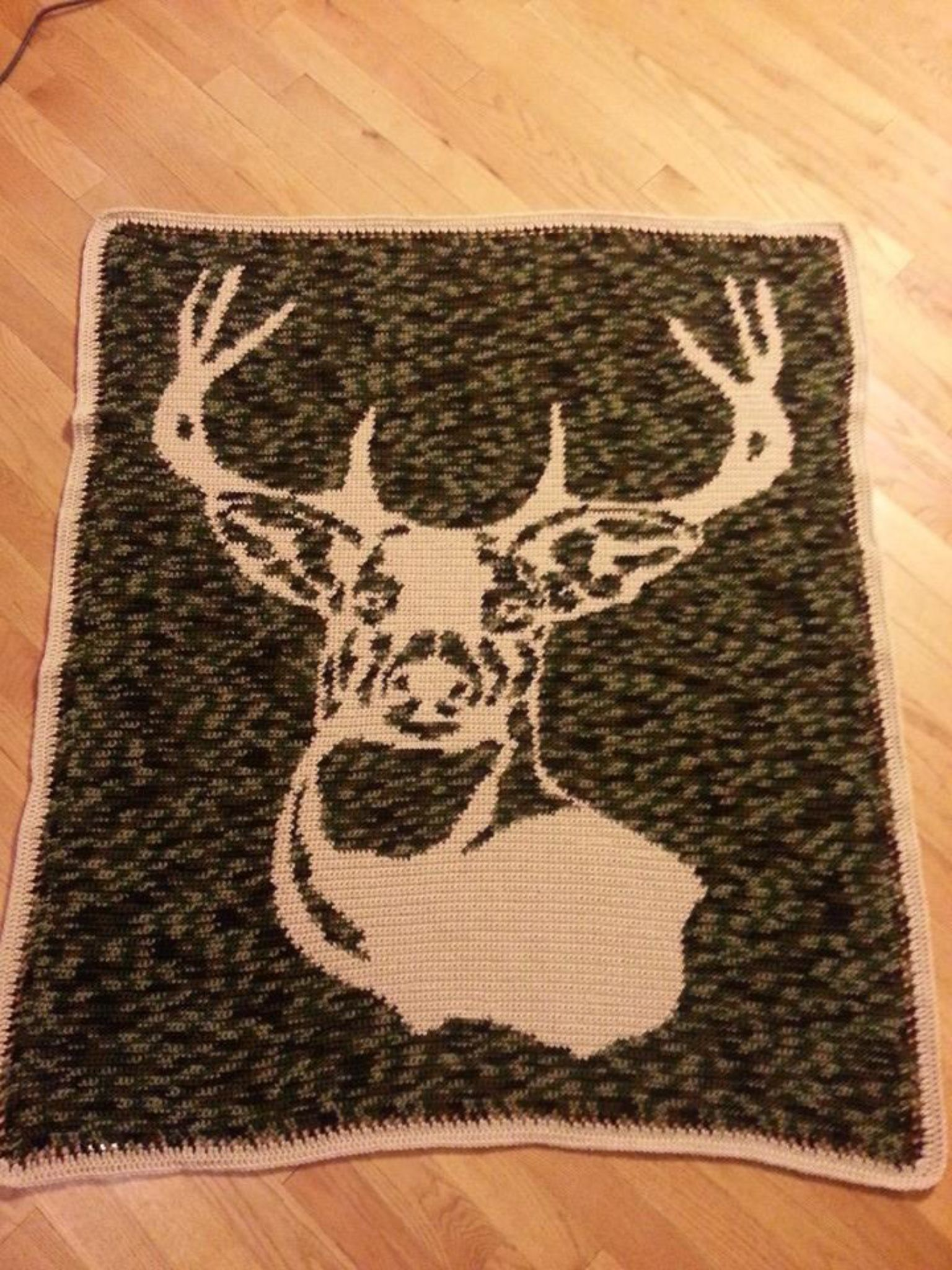 Deer Blanket Crochet Pattern