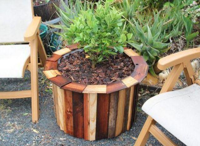 Turn A Plastic Trash Barrel Into A Standout Planter Dress Up