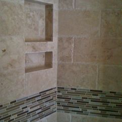 Kitchen Remodel Charleston Sc Camo Appliances 6x12 Chiseled Edge Travertine Field Tile With Stone, Glass ...