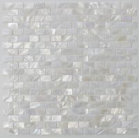Mother of Pearl Oyster White Small Subway Mosaic Tiles ...