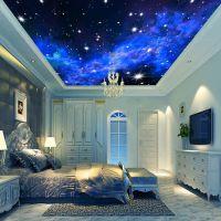 3D Wallpaper Mural Night Clouds Star Sky Wall Paper ...