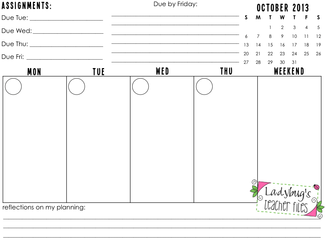 I Homework This Year Our Daily Weekly Planner
