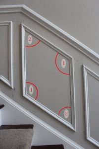 How to Add Molding Squares to a Wall   Shadow box ...