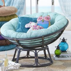 Plush Padded Moon Saucer Chair In Red Swinging For Bedroom Papasan Cushion Mint Green Pier 1 Imports No